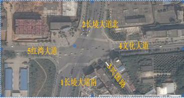 城市道路五路平面交叉口渠化设计与分析