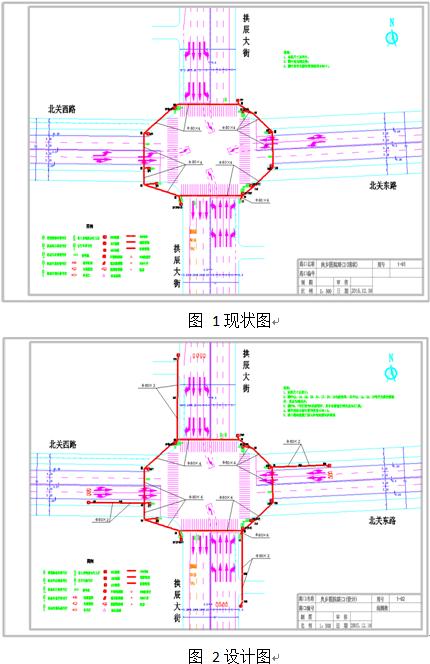 cad图纸包括一张现状图,一张设计图.